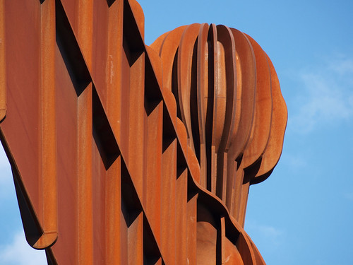 The magnificent Angel of the North at Gateshead - by Antony Gormley