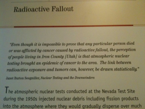Atomic Testing Museum display