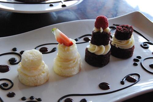 Tiny cake samples