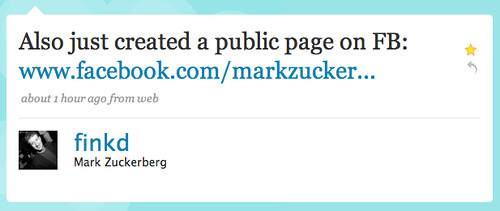 Twitter / Mark Zuckerberg: Also just created a public ...