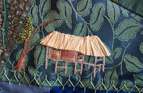 Raffia roof on jungle house
