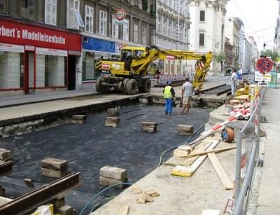 Vienna Tram 49 Reconstruction 2009 – Track Work