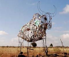 Arte reciclado en Kitengela
