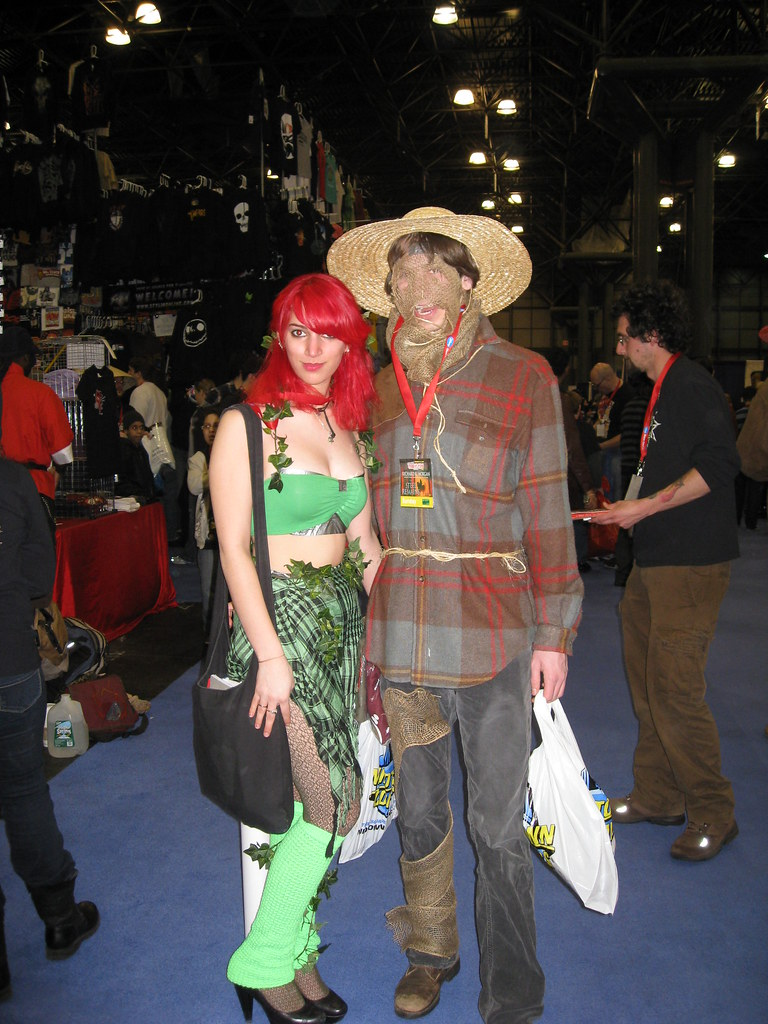 Some more Batman characters: Poison Ivy and Scarecrow
