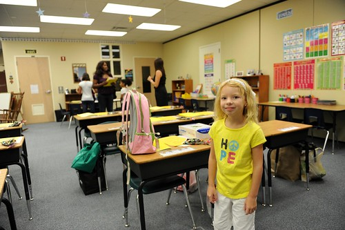 Hope visiting her second grade class for the first time