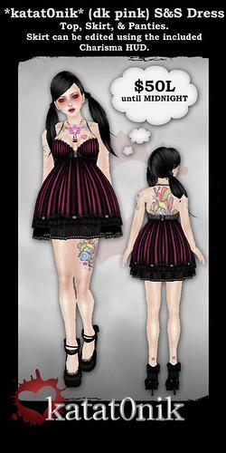 50L Friday.*katat0nik* (dk pink) S&S Dress