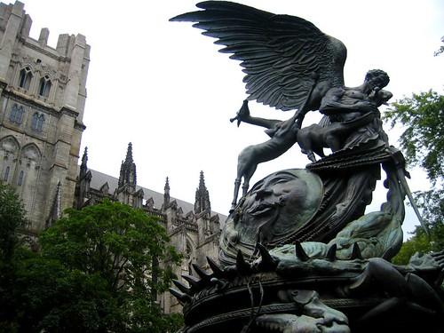 Peace Fountain outside St. John the Divine.
