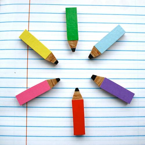 Lucie Ellen Brooch Pencil Crayon