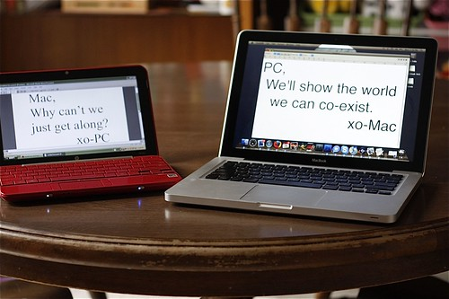 mac and PC for world peace.