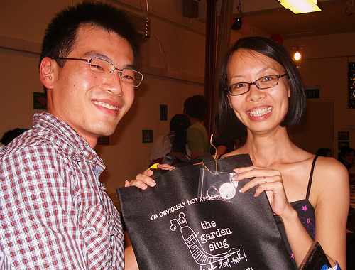 Joseph Slug & Aline - winner of door goodie bag