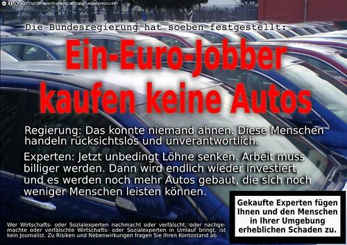 Ein-Euro-Jobber kaufen keine Autos