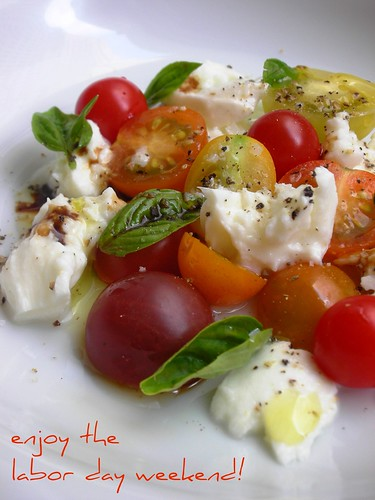 tomato, basil and buffalo mozzarella salad