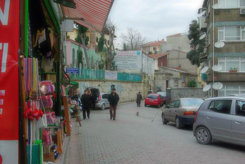 street of Aziz Mahmud Hüdai Hz Camii , üsküdar, istanbul
