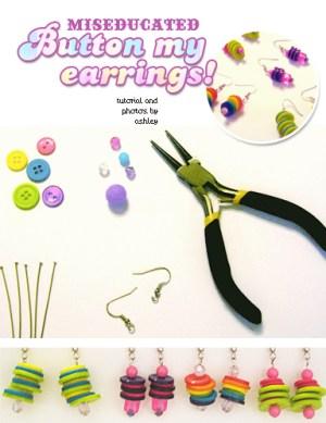 button my earrings