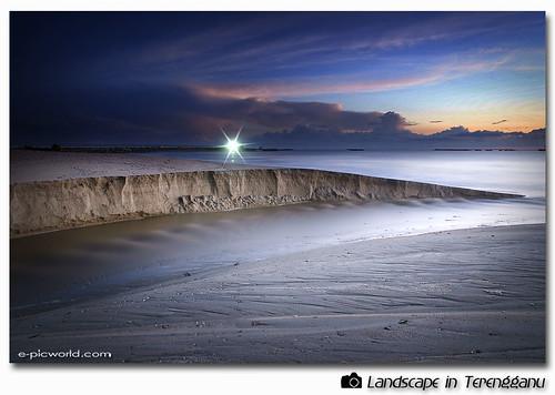 long exposure beach shot picture