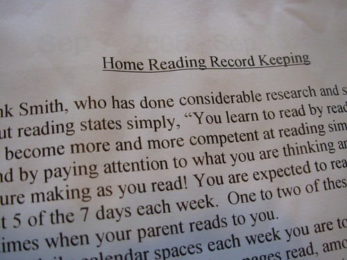 home reading 002