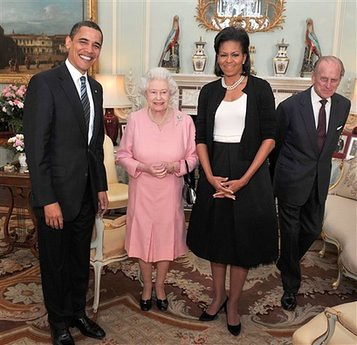Queen Elizabeth II with the Obamas, 2009. Flickr/Creative Commons