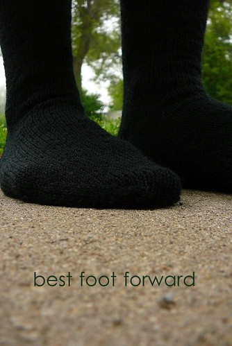 simple black socks