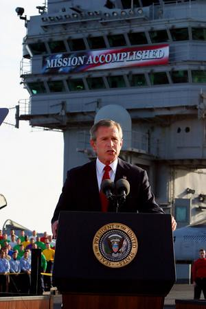 George W. Bush: Mission Accomplished by nailbombs & faeriewings.