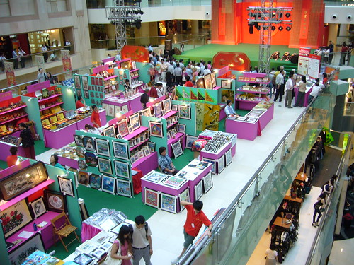 Chinese handicrafts, Raffles City, Singapore