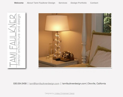 Tami Faulkner Interior Design - Full website design by Lindsay Christensen Design