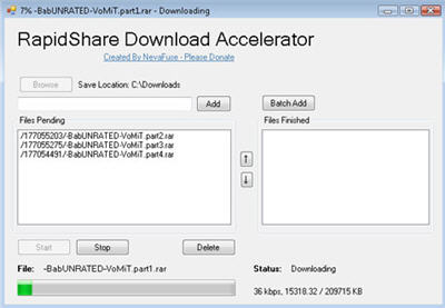 RapidShare Download Accelerator