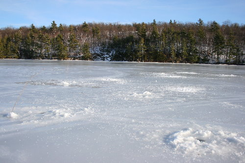 Icefishing holes
