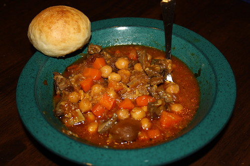 Final stew with milk roll