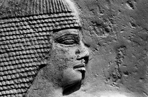 Museum – Egyptian Relief. (Fuji Neopan 1600. Nikon F100. Noritsu Koki.)