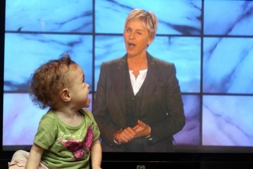 laughing at Ellen