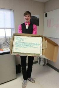Resignation Letter in Cake