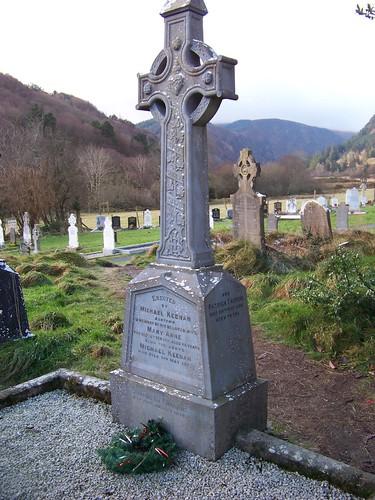 Keenan tombstone at Glendalough