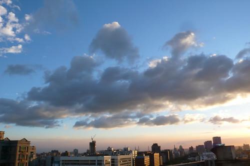 黃昏與藍天