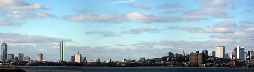 Boston panorama from John F. Kennedy Library