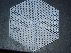 Plastic Canvas Icosahedron - Original Hexagon Plastic Canvas