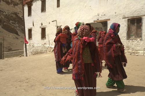 Preparing for a cham dance in Korzok village