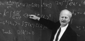 Hans Bethe teaching hard sums