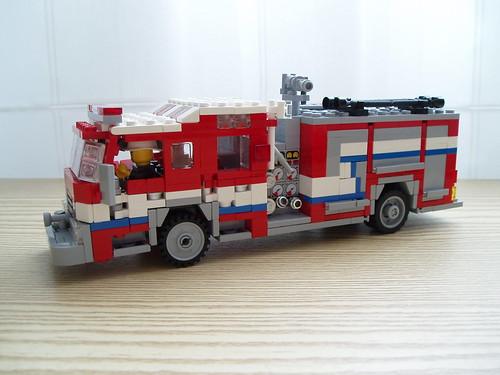 LEGO fire engine rescue pumper