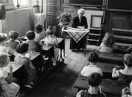 Schoolklas begin jaren '50 / Dutch classroom a...