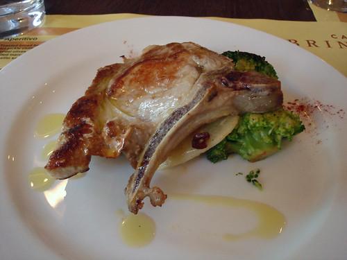 Pork Chop with Broccoli