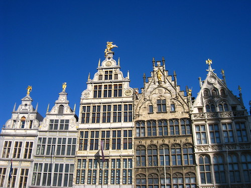 Guild houses in the Grote Markt. Rebuilt after some early Spanish visitors burnt them down.