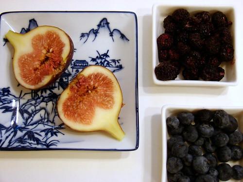 figs + berries