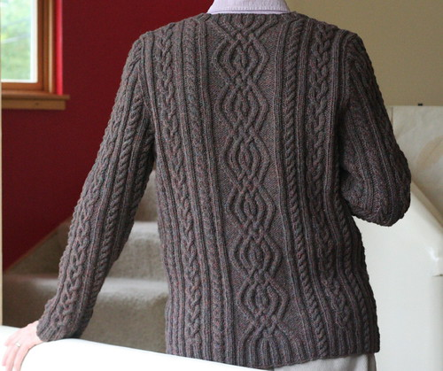 Back view, Hedge Fence Pullover