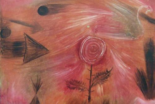 """Paul Klee: """"Rose wind"""", detail"""