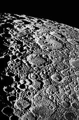 "The Moon, as seen through the 36"" refracting telescope on Mount Hamilton"
