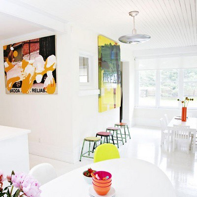 the estate of things chooses white dining room