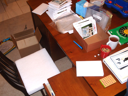 A view of the teacher's desk