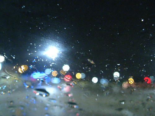 Drops on a Windscreen