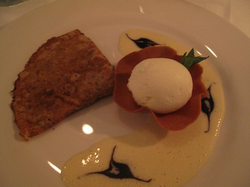 Chestnut Crepe and Sesame Seed Ice Cream