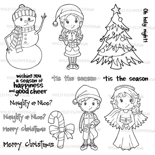 'Tis the Season, Wild Flower Kids Stamps